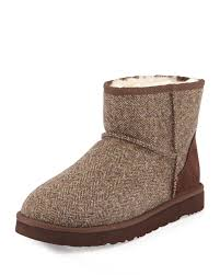 ugg boots australia mens lyst ugg tweed mini boot in brown for