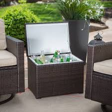 Wood Patio Furniture Ideas Furniture Wooden Patio Cooler Cart With Wheels For Pretty Outdoor