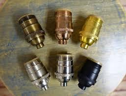 slip uno fitter l shade solid brass uno threaded keyless light socket shade fitter sold