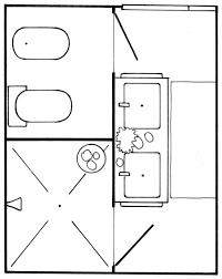 master bathroom floor plan with open plan vanity and separate