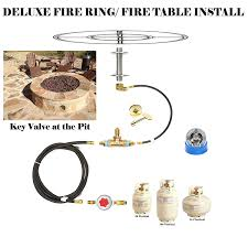 Natural Gas Fire Pit Kit Amazon Com Fr18ck Complete 18