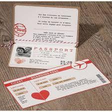 faire part mariage originaux faire part mariage original passeport billet avion marron