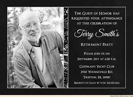 retirement invitations black white retirement invitation honoree photo