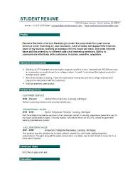 high student resume objective sles student resume objective best resume collection