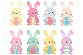 easter bunny clipart illustrations creative market