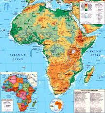 africa map countries and capitals maps of continent countries capitals and flags travel