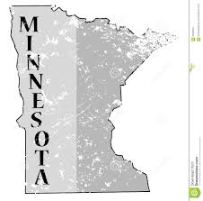 Minnesota State Map by Minnesota State And Date Map Grunged Stock Illustration Image