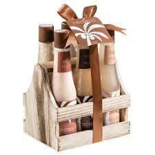 amazon com tropical milky coconut bath and body spa gift set