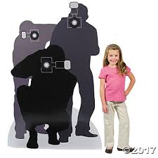 Paparazzi Halloween Costume Silhouette Cardboard Stand