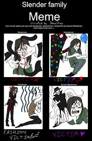 Slenderman Memes - slender family meme starring me by flargahblargh on deviantart