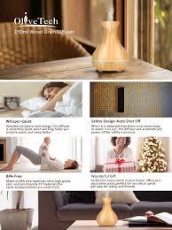 amazon com olivetech aroma essential oil diffuser 150ml wood