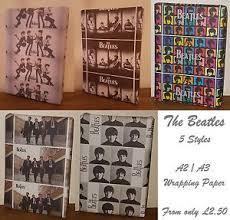 beatles wrapping paper new a2 a3 the beatles wrapping paper 5 styles animal