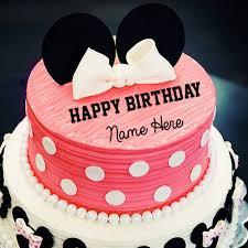 cute minnie mouse happy birthday cake