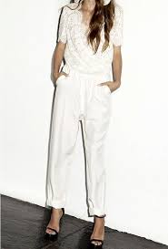 Formal Jumpsuits For Wedding Best 25 White Jumpsuit Ideas On Pinterest White Jumpsuits And