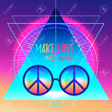 not war rainbow hippie sun glasses with peace sign
