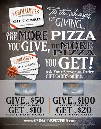 gift card specials s pizzeria makes the season brighter with gift card
