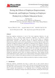 testing the effects of employee empowerment teamwork and