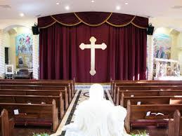 Church Curtains S K Theatrical Draperies Our Of Perpetual Help Catholic Church