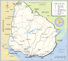 Map Of Latin America With Capitals detailed map of uruguay nations online project