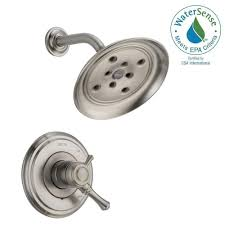 delta cassidy 1 handle shower only faucet trim kit in stainless
