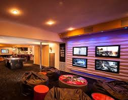 Media Room Tv Vs Projector - multiscreen tv system is like a sports bar in your home