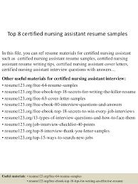 Resumes For Cna Top 8 Certified Nursing Assistant Resume Samples 1 638 Jpg Cb U003d1429928618