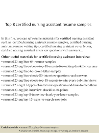 Resume Of Nursing Assistant Top 8 Certified Nursing Assistant Resume Samples 1 638 Jpg Cb U003d1429928618