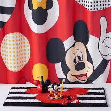 Micky Mouse Curtains by Kohls Beach Themed Shower Curtains Lush Decor Ruffle Fabric