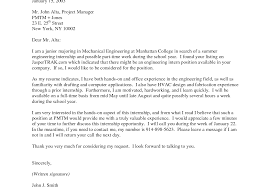 sample cover letter internship engineering image collections