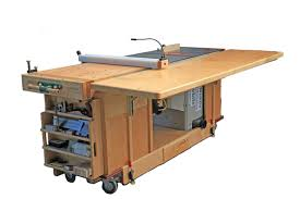 table saw workbench plans ekho mobile workshop portable cabinet saw work bench and router