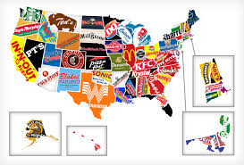 United States 50 States Map by Behind Red White U0026 Food White Food 50 States And Restaurants