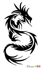 how to draw chinese dragon tribal tattoos
