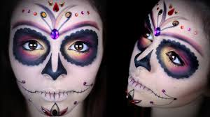 Makeup Tutorials For Halloween by Sugar Skull Makeup Tutorial Youtube