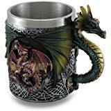 Dragon Coffee Cup Amazon Com Gothic Dragon Tankard Coffee Mug Cup Medieval By