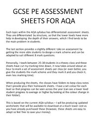 aqa gcse pe 2016 spec training seasons by j shields teaching