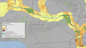 Los Angeles Downtown Map by Explore The La River Los Angeles River Revitalization