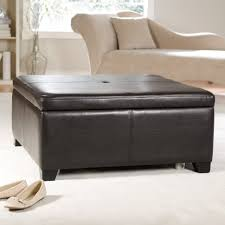 round leather storage ottoman tags marvelous square tufted