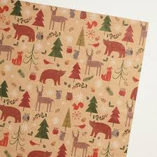 kraft christmas wrapping paper woodland animals kraft wrapping paper world market
