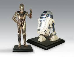 lifesize 3po r2 d2 star wars droid replicas green head