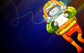 1280x800 astronaut with ipad desktop pc and mac wallpaper