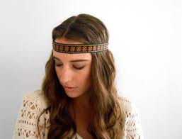 hippy headband hippie headband vintage trim headband by gypsycloth on etsy