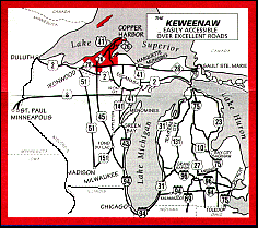 peninsula michigan map map showing the location of the keweenaw peninsula in the