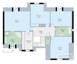 plan d une chambre plan maison 3 chambres 2 salles de bain
