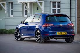 volkswagen gti blue vw golf r 2017 review by car magazine