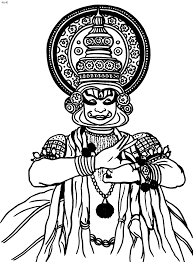 kathakali outline google search coloring pages pinterest