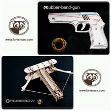 gift for him diy crossbow rubberband gun father or husband