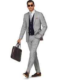 light gray vested suit suit light grey check sienna p3581 suitsupply online store men s