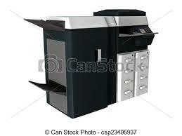 imprimante bureau imprimante bureau imprimante render bureau isolé fond