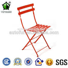 Metal Folding Bistro Chairs with Vintage Folding Pro Metal French Bistro Chairs In Outdoor Garden