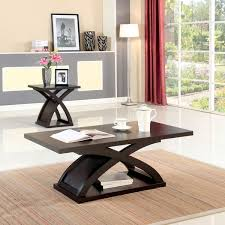 espresso wood coffee table furniture of america barkley modern espresso wood x base coffee